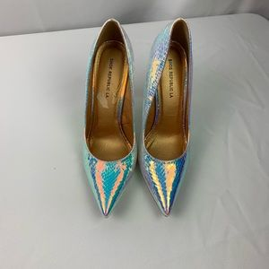 Shoe Republic LA iridescent High heel shoe.